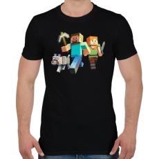 PRINTFASHION Minecraft - Férfi póló - Fekete