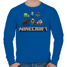 PRINTFASHION Minecraft - Férfi pulóver - Királykék