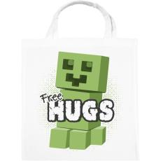 PRINTFASHION Minecraft ölelés - Vászontáska - Fehér