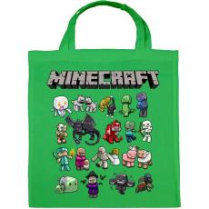 PRINTFASHION Minecraft - Vászontáska - Zöld