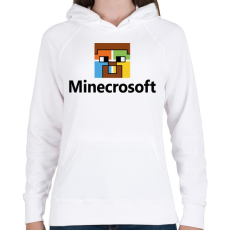 PRINTFASHION Minecrosoft - Női kapucnis pulóver - Fehér