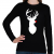 PRINTFASHION Minimal Rudolf - Női hosszú ujjú póló - Fekete