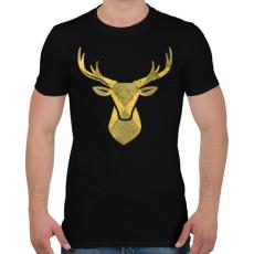PRINTFASHION Minimal szarvas - Férfi póló - Fekete