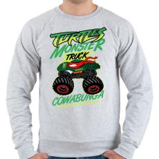 PRINTFASHION Monster Teknős - Férfi pulóver - Sport szürke
