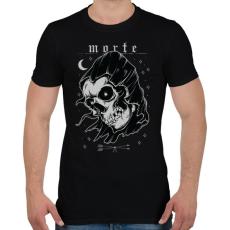 PRINTFASHION Morte - Férfi póló - Fekete