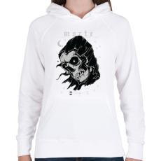 PRINTFASHION Morte - Női kapucnis pulóver - Fehér