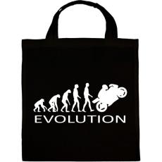 PRINTFASHION Motoros evolúció - Vászontáska - Fekete
