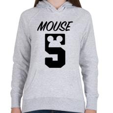 PRINTFASHION Mouse 5 - Női kapucnis pulóver - Sport szürke
