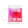 PRINTFASHION music is my life - Bögre - Fehér