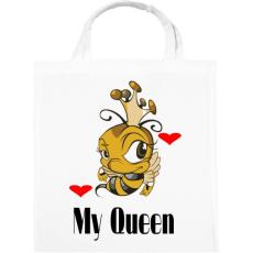 PRINTFASHION my queen - Vászontáska - Fehér