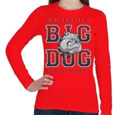 PRINTFASHION Nagy kutya - Női hosszú ujjú póló - Piros