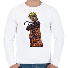 PRINTFASHION Naruto Uzumaki - Férfi pulóver - Fehér
