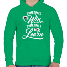 PRINTFASHION Néha nyersz, néha okulsz - Férfi kapucnis pulóver - Zöld
