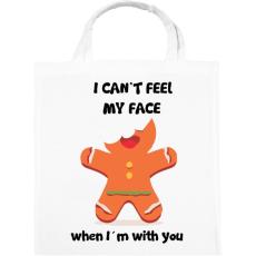 PRINTFASHION Nem érzem az arcom.. - Vászontáska - Fehér