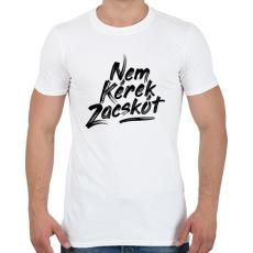 PRINTFASHION nem-kerek-zacskot-paint-black - Férfi póló - Fehér