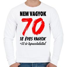 PRINTFASHION Nem vagyok 70! - Férfi pulóver - Fehér