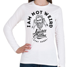 PRINTFASHION Nem vagyok furcsa - Női hosszú ujjú póló - Fehér