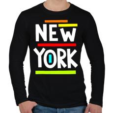 PRINTFASHION NEW YORK - Férfi hosszú ujjú póló - Fekete