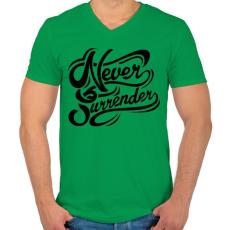 PRINTFASHION Nincs megállás - Férfi V-nyakú póló - Zöld