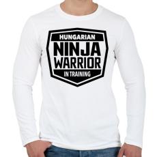 PRINTFASHION Ninja Warrior - Férfi hosszú ujjú póló - Fehér