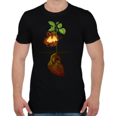 PRINTFASHION Növény világ - Férfi póló - Fekete