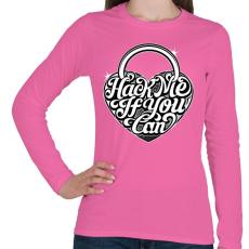 PRINTFASHION Nyiss ki ha tudsz!  - Női hosszú ujjú póló - Rózsaszín