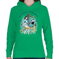 PRINTFASHION Óceáni vitorlázás - Női kapucnis pulóver - Zöld