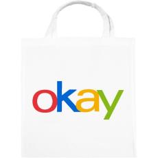 PRINTFASHION OKAY - Vászontáska - Fehér