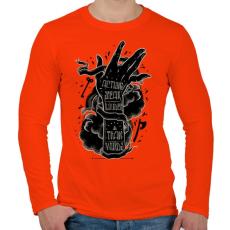 PRINTFASHION Ordíts a világba - Férfi hosszú ujjú póló - Narancs