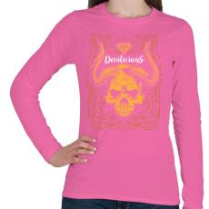 PRINTFASHION Ördögi sugallat - Női hosszú ujjú póló - Rózsaszín