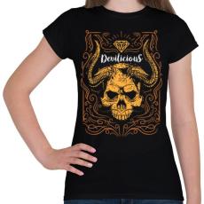 PRINTFASHION Ördögi sugallat - Női póló - Fekete