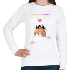 PRINTFASHION Orihime x Ulquiorra White Font - Női pulóver - Fehér