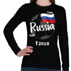 PRINTFASHION Oroszország - Női hosszú ujjú póló - Fekete