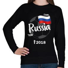 PRINTFASHION Oroszország - Női pulóver - Fekete