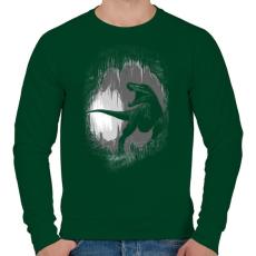 PRINTFASHION Ősi barlang - Férfi pulóver - Sötétzöld