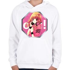 PRINTFASHION OSU! ikon logó - Gyerek kapucnis pulóver - Fehér