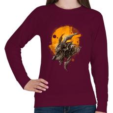 PRINTFASHION Páncélos sárkány - Női pulóver - Bordó