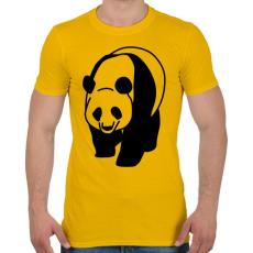 PRINTFASHION Panda - Férfi póló - Sárga