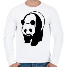 PRINTFASHION Panda - Férfi pulóver - Fehér