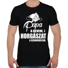 PRINTFASHION Papa a nevem... - Férfi póló - Fekete