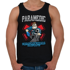PRINTFASHION Paramedic - Férfi atléta - Fekete