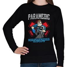 PRINTFASHION Paramedic - Női pulóver - Fekete