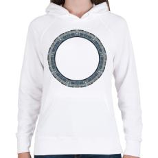 PRINTFASHION Pegazusi kapu - Női kapucnis pulóver - Fehér