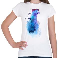 PRINTFASHION Pigeon of London - Női póló - Fehér