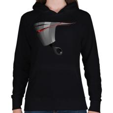 PRINTFASHION Piston - Női kapucnis pulóver - Fekete