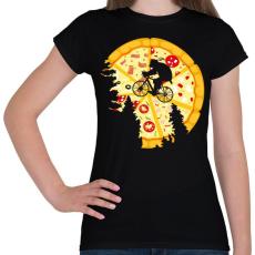 PRINTFASHION Pizza hold - Női póló - Fekete