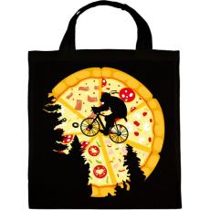 PRINTFASHION Pizza hold - Vászontáska - Fekete