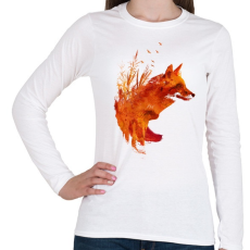 PRINTFASHION Plattensee fox - Női hosszú ujjú póló - Fehér