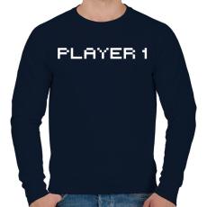 PRINTFASHION PLAYER 1 - Férfi pulóver - Sötétkék
