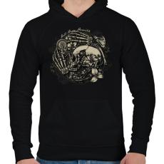 PRINTFASHION Pokoli remény - Férfi kapucnis pulóver - Fekete